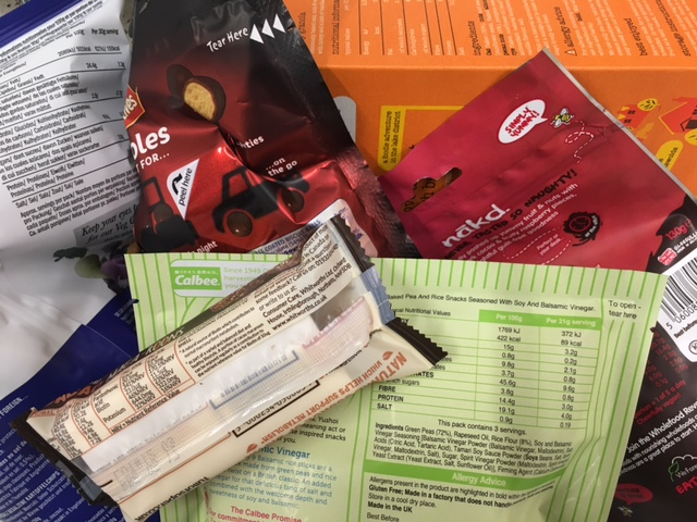 Back of pack snack food products to show nutrition labelling in line with the changes on December 13th allowing consumers to make an informed choice about nutritional health information