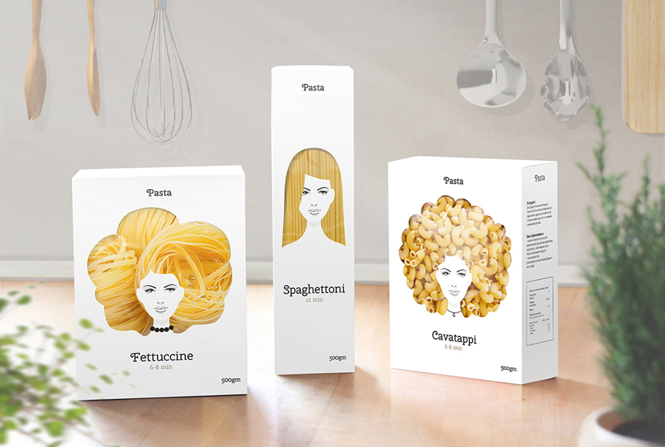 Good Hair Day Pasta 17 Awesome Examples of Food Packaging Design