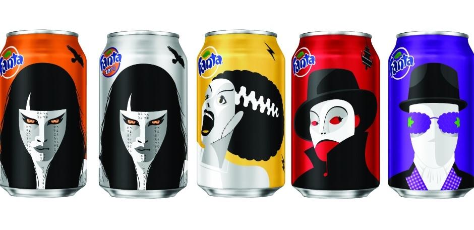 Fanta Halloween Packaging Design